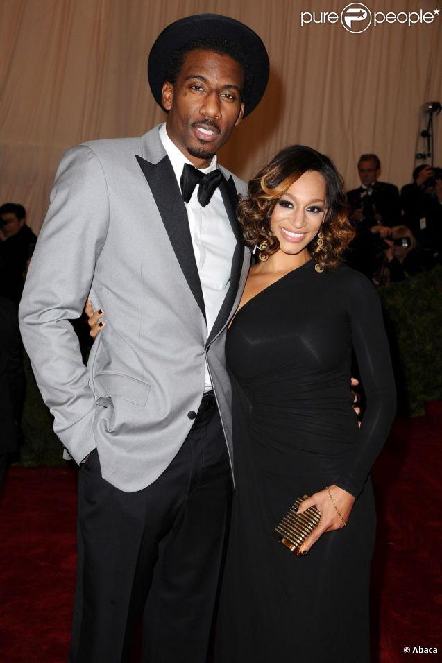 Amar'e Stoudemire et sa compagne Alexis Welch le 7 mai 2012 au Met de New York. Un mois plus tard, le joueur des Knicks demandait sa belle en mariage, à Paris.