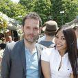 Anggun et son mari Cyril Montana, au tournoi de Roland-Garros, à Paris, le 29 mai 2012.