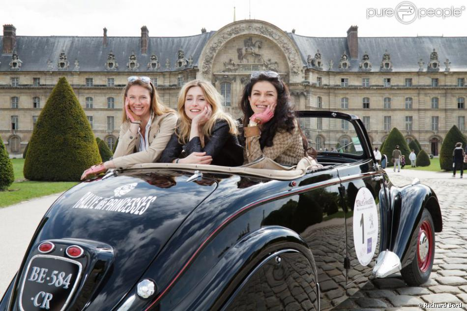 Florence Migraine Bourgnon, Julie Gayet, Jovanka Sopalovic at the Rallye des Princesses  photo courtesy of Purepeople.com