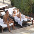 Francesco Totti et sa femme Ilary Blasy en vacances à Miami le 7 juin 2012