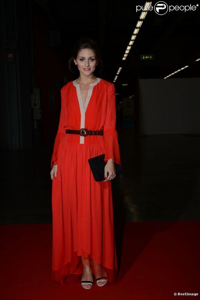 Olivia Palermo, ravissante en BCBG MaxAzria et sandales Kurt Geiger lors de la soirée de charité Convivio à Milan. Le 7 juin 2012.