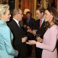 La princesse Charlene et le prince Albert de Monaco à Windsor en mai 2012 avec le duc et la duchesse de Cambridge.