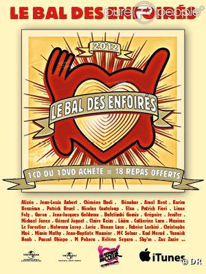 Le Bal des Enfoirés  entre directement numéro 1 des ventes d'albums, mars 2012.
