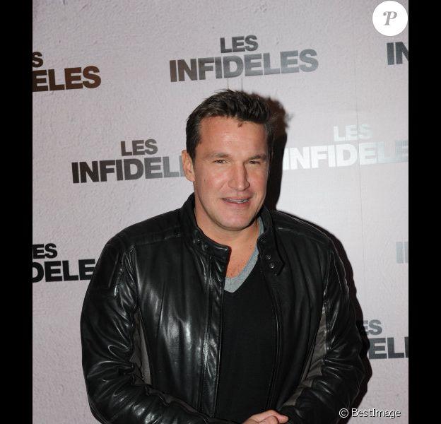 Benjamin Castaldi le 14 février 2012 à Paris pour l'avant-première des Infidèles