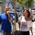 L'ex couple Elisabetta Canalis et Steve-O à West Hollywood, le 23 juin 2012.