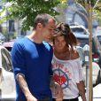 Séparés, mais visiblement toujours très proches Elisabetta Canalis et Steve-O se promènent à West Hollywood, le 23 juin 2012.