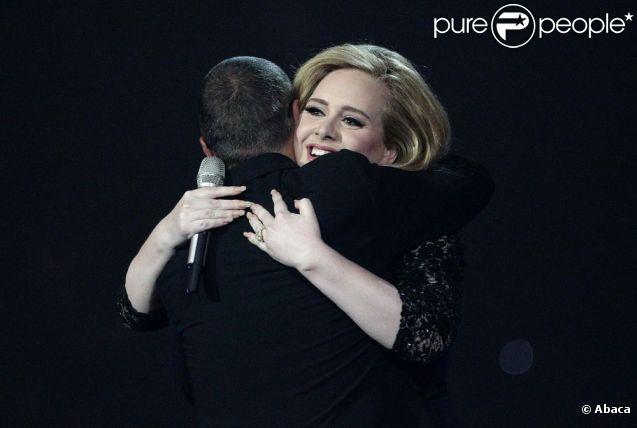 Adele lors des Brit Awards en février 2012
