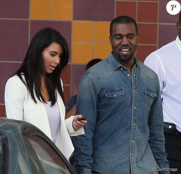 Kanye West et Kim Kardashian visitent l'hôpital pour enfants de Los Angeles, le 29 juin 2012.