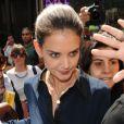 Katie Holmes à New York le 2 juillet 2012. Première sortie de l'actrice depuis l'annonce de son divorce d'avec Tom Cruise, après cinq ans de mariage.