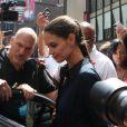 Katie Holmes à New York le 2 juillet 2012. Première sortie de l'actrice depuis l'annonce de son divorce d'avec Tom Cruise.
