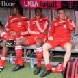 Breno Vinicius Rodrigues Borges, dit Breno, Edson et Franck Ribéry le 19 septembre 2009 à Munich