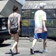 Tallulah Willis et son chéri Lucas Vercetti vont déjeuner à Studio City, Los Angeles, le 8 juillet 2012