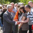 Le prince Charles et Camilla Parker Bowles en visite à Lostwithiel dans la Cornouailles le 4 juillet 2012.