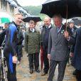 Le prince Charles en visite à Hebden Bridge le 6 juillet 2012.
