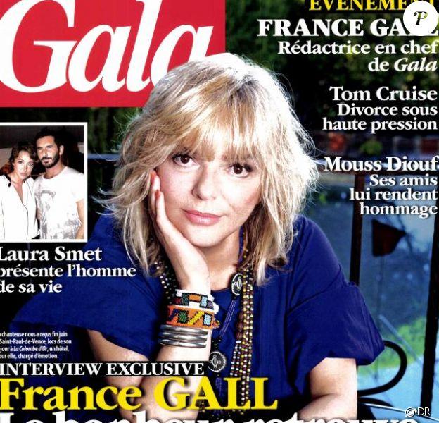 France Gall, le bonheur retrouvé... en couverture de Gala, en kiosques le 11 juillet 2012.