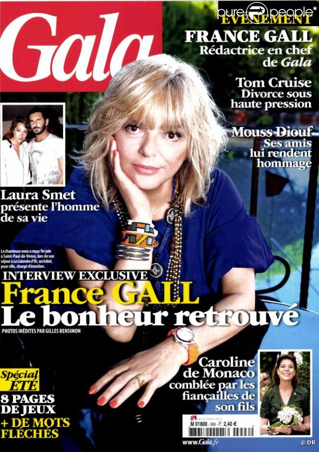 france gall bouleversante et de retour la musique 39 je suis vraiment apais e 39 purepeople. Black Bedroom Furniture Sets. Home Design Ideas