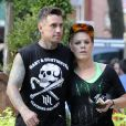 Pink et Carey Hart en plein footing, à New York, le 11 juillet 2012.