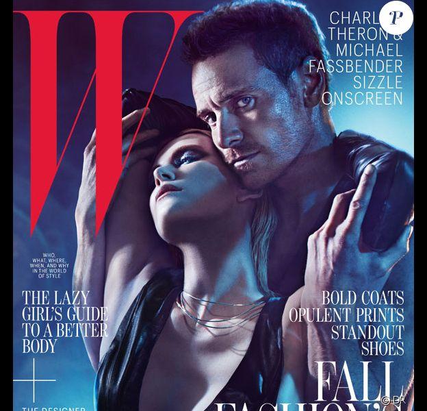 Michael Fassbender et Charlize Theron en couverture de l'édition du mois d'août du magazine W
