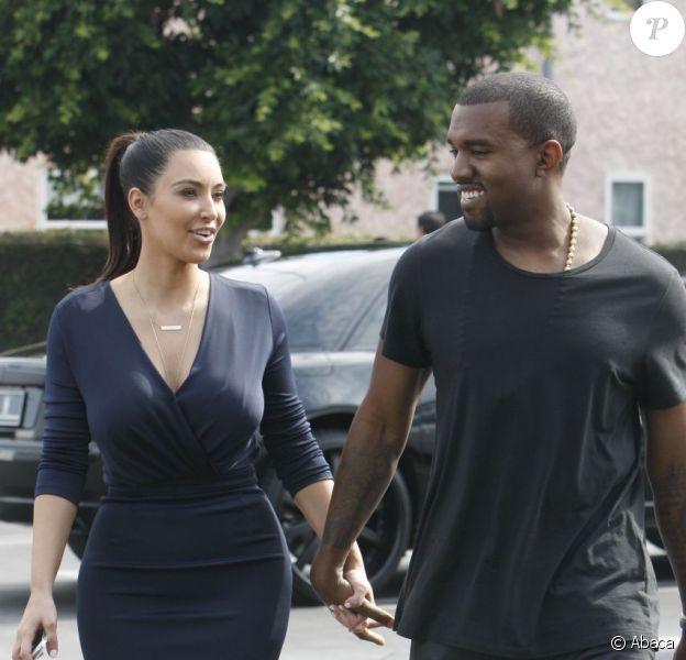 Kanye West et Kim Kardashian vont déjeuner à Beverly Hills le 13 juillet 2012