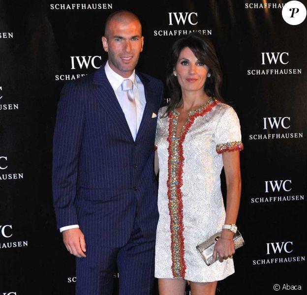 Zinédine Zidane et sa femme Véronique