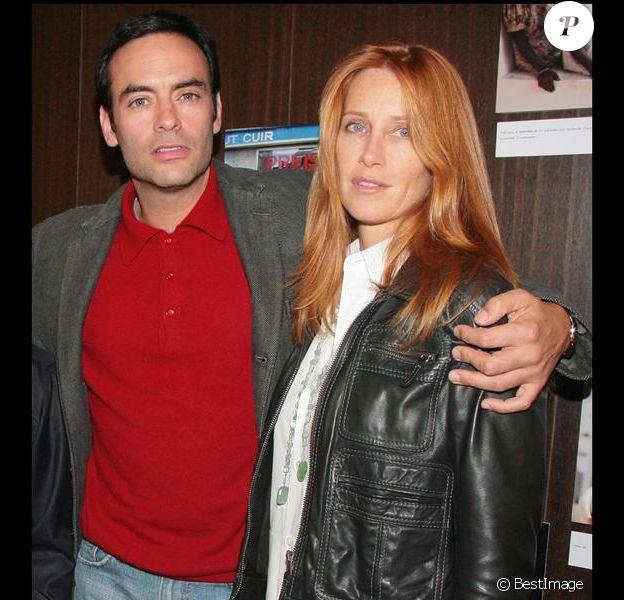 Anthony Delon et Sophie Clérico en octobre 2007 lors du concert de Charles Aznavour