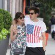 Keira Knightley et son fiancé James Righton en juillet 2012 à New York.