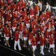 Délégation chinoise lors de la cérémonie d'ouverture des Jeux olympiques de Londres 2012. 27 juillet