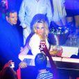 Pamela Anderson fait la fête au Vip Room de Saint Tropez le 31 juillet 2012