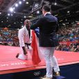 Teddy Riner savoure avec sa famille, ses fans et ses amis son titre olympique obtenu lors des Jeux olympiques de Londres le 3 août 2012