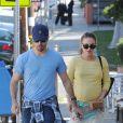 Natalie Portman, enceinte, et Benjamin Millepied en février 2011 à Los Angeles