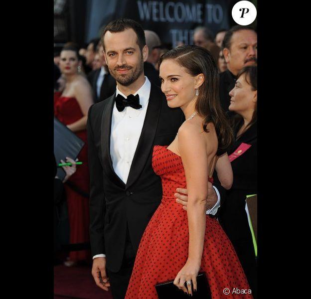 Benjamin Millepied et Natalie Portman lors de la cérémonie des Oscars en 2012