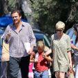 Michelle Williams et Jason Segel sont allés chercher Matilda, petite fille de l'actrice le 6 août 2012 à Los Angeles