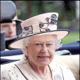 La reine Elizabeth II au royal Ascot 2008