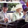 Le prince Charles et Camilla, Duchesse de Cornouailles au royal Ascot 2008