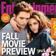 Kristen Stewart et Robert Pattinson en couverture d' Entertainment Weekly . Août 2012.