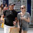 Antonio Banderas et sa fille Stella à New York, le 8 août 2012