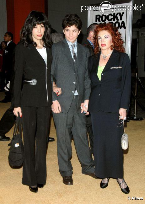 Jackie Stallone, avec sa fille Toni Ann Filiti et son enfant Edmund, en 2006
