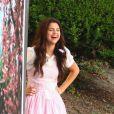 Selena Gomez, souriante et décontractée, sur le tournage du film  Parental Guidance Suggested , le vendredi 10 août 2012, à Sherman Oaks, en Californie.