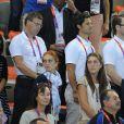 Le prince Carl Philip de Suède et son beau-frère le prince Daniel lors des Jeux olympiques de Londres 2012.