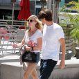 Kirsten Dunst et Garrett Hedlund à Los Angeles, le 11 août 2012. Le couple s'en rencontré sur le tournage de  Sur la route .