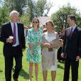 Le prince Hans-Adam II, la princesse Sophie, la princesse Marie et le prince Alois. La famille princière de Liechtenstein célébrait le 15 août 2012 autour du prince Hans-Adam II et du prince héritier Alois la Fête nationale de la principauté.