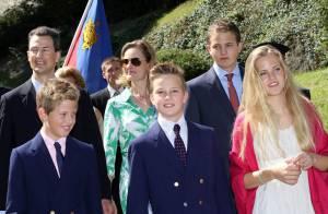 La famille princière de Liechtenstein radieuse pour la Fête nationale 2012