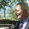 Interview avec le prince Hans Adam II de Liechtenstein à l'occasion de la Fête nationale le 15 août 2012.