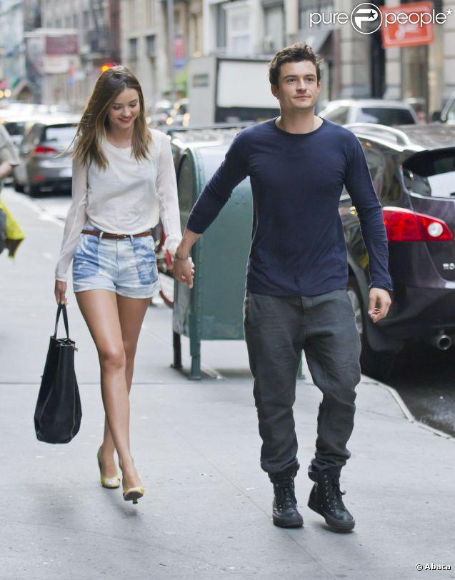Orlando Bloom et Miranda Kerr dans les rues de New York