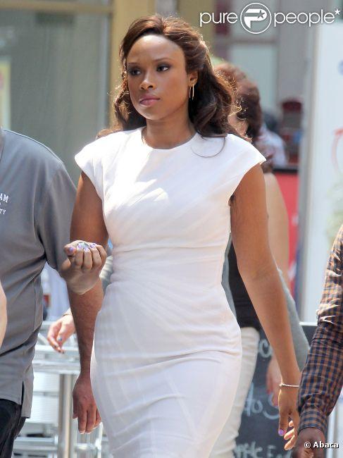 La belle Jennifer Hudson sur le tournage de la série Smash à New York, le 17 août 2012