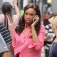 Jennifer Hudson très occupée sur le tournage de la série Smash à New York, le 17 août 2012