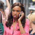 Jennifer Hudson en plein tournage de la série Smash à New York, le 17 août 2012