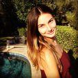 Lily Aldridge, photo publiée en août 2012 sur son compte Twitter via Instagram