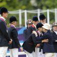 Zara Phillips médaillée d'argent du concours complet par équipes aux JO de Londres le 31 juillet 2012