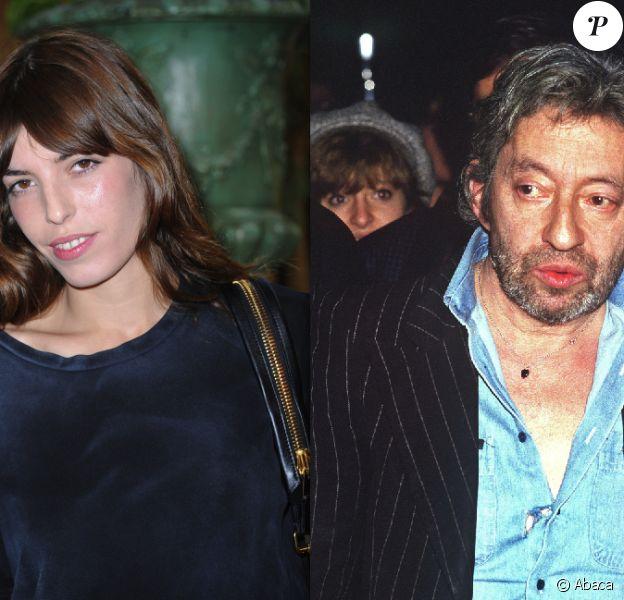 Lou Doillon en septembre 2011 à Paris, et Serge Gainsbourg en septembre 1987, toujours à Paris.